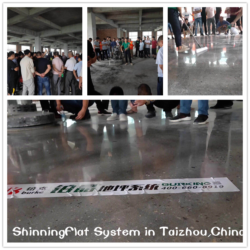 concrete floor grinding and polishing in China