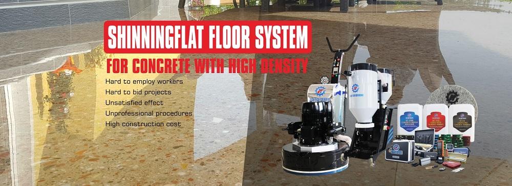 Shining Flat concrete polishing system--concrete floor grinding and polishing