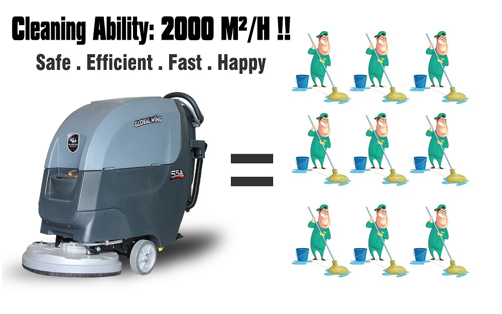 CE Certified walk behind floor sweeper