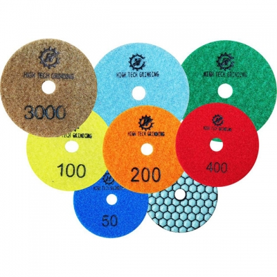 3mm dry polishing pads for granite 3 step