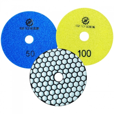 China Made granite resin polishing pads pad for 3 inch /4inch