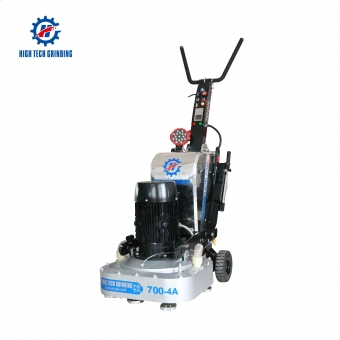 Dry and wet self-propelled concrete grinding and polishing machine