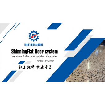 High Tech Grinding Shinningflat Floor Polished Concrete Floor