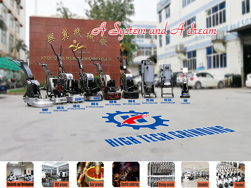 20 years anniversary of XINGYI Salute the classic--12 heads floor grinding machine