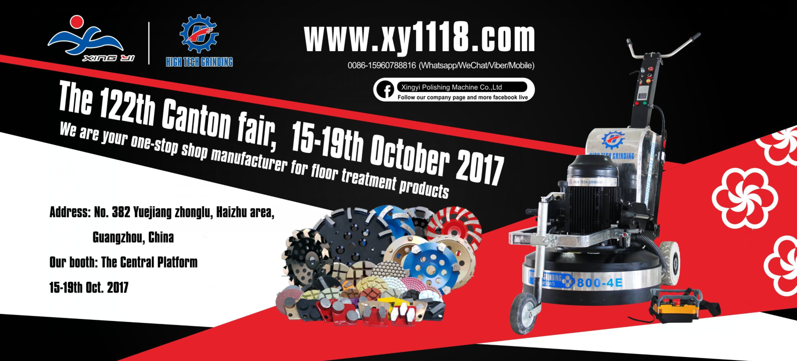 RE: Xingyi will be in the 122th Canton Fair at  15-19th. Oct.2017