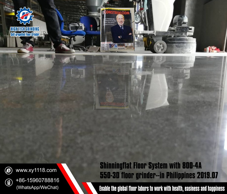 Customer Demo in Philippine-How to polish concrete floor