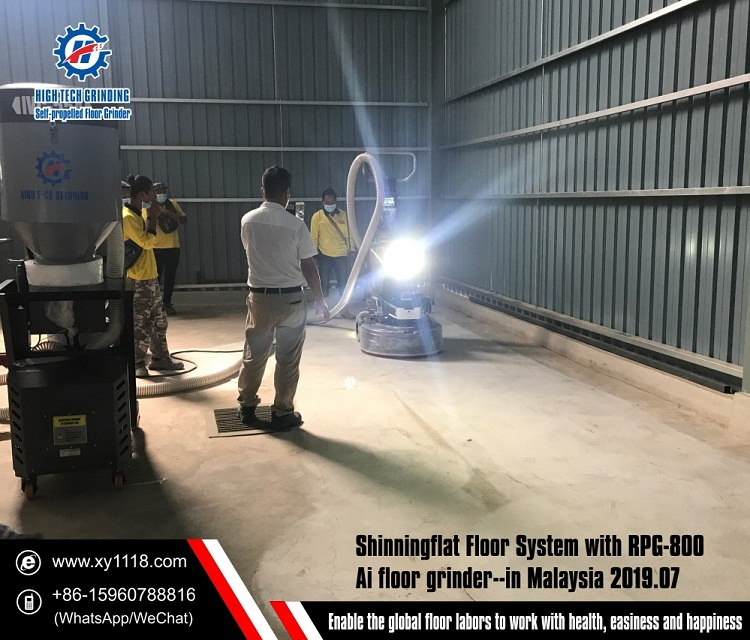 Xingyi Arranged a Demo in Malaysia to Show AI self-propelled Floor Grinder