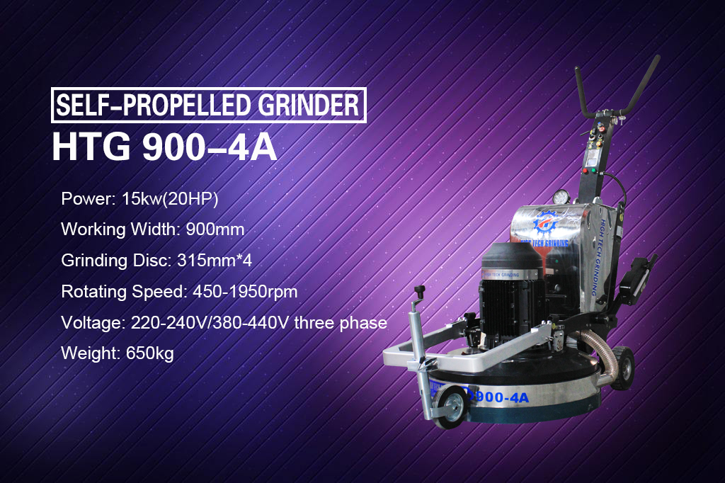 New Self-Propelled Concrete Floor Grinder HTG-900A