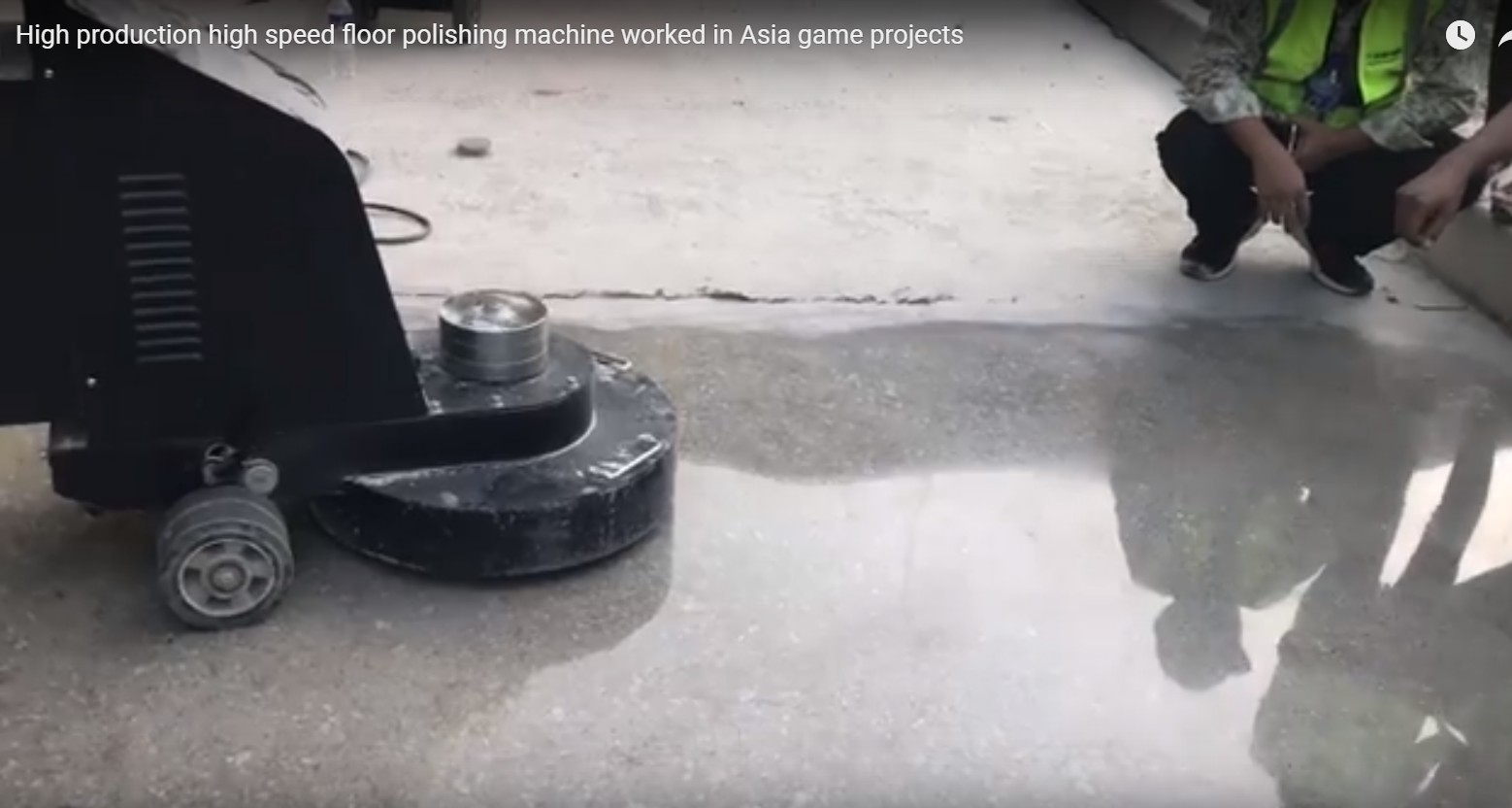 high product high speed floor polishing machine wroking
