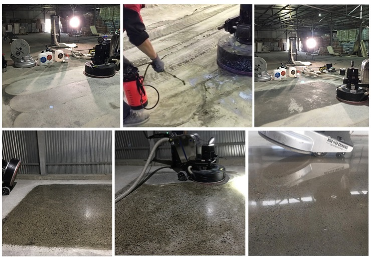 Floor Solutions:ShiningFlat Polished Concrete System